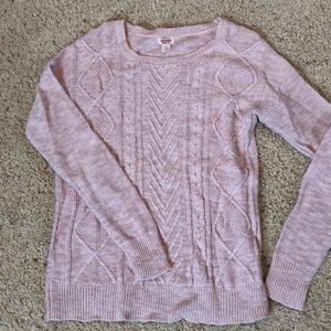 Mossimo Supply Co Pale Pink Cable Knit Sweater